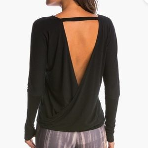 ONZIE OPEN DRAPEY V-BACK LONG SLEEVE COVER UP